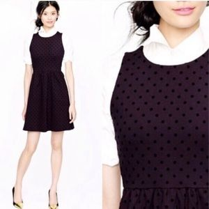 J. CREW Polka dot ponte dress